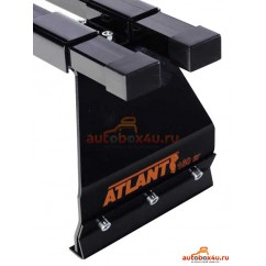 Багажник Атлант на УАЗ Хантер на водосток (прямоугольная дуга)