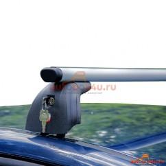 Багажник Amos Beta на Renault Megane седан 2003-2008 г. в штатное место (аэродинамическая дуга)