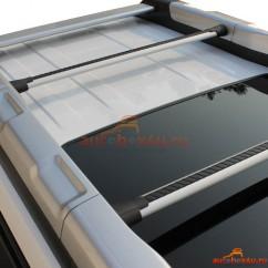 Оригинальный багажник на Nissan X-Trail (T31 с фонарями на крыше) 2007-2014 г. в штатное место (аэродинамическая дуга)