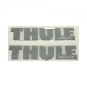 Наклейка на автобоксы Thule (серая)